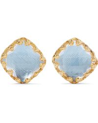 Larkspur & Hawk - Jane Gold-dipped Quartz Earrings - Lyst