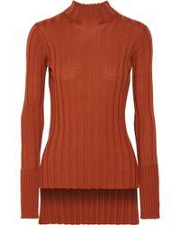 Theory - Ribbed Merino Wool Turtleneck Sweater - Lyst
