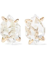 Melissa Joy Manning | 14-karat Gold Herkimer Diamond Earrings | Lyst
