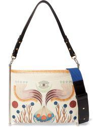 Chloé - Roy Printed Textured-leather Shoulder Bag - Lyst
