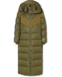 beee14ee6f48 Nike - Hooded Quilted Shell Down Coat - Lyst
