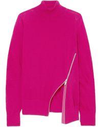 Sacai - Zip-detailed Wool Turtleneck Sweater - Lyst