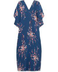 Jaline - Beatriz Floral-print Silk Crepe De Chine Maxi Dress - Lyst
