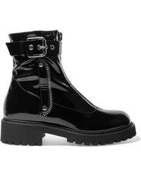 Giuseppe Zanotti - Patent-leather Combat Boots - Lyst
