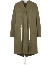 T By Alexander Wang - Cotton-twill Parka - Lyst
