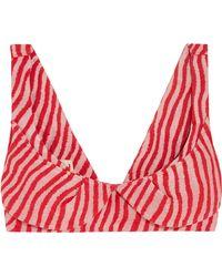 Marni - Striped Cotton-blend Bra Top - Lyst