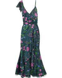 Borgo De Nor - Isadora Printed Cotton And Silk-blend Satin Maxi Dress - Lyst