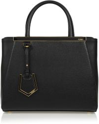 Fendi - 2jours Small Textured-leather Shopper - Lyst