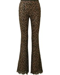 Michael Kors - Metallic Corded Lace Flared Trousers - Lyst