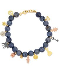 Carolina Bucci - Recharmed Lucky 18-karat Yellow, Rose And White Gold And Dumortierite Bracelet - Lyst