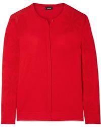 Akris - Pointelle-knit Cotton Cardigan - Lyst
