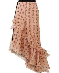 Johanna Ortiz - Walking Palm Ruffled Polka-dot Silk-organza Skirt - Lyst