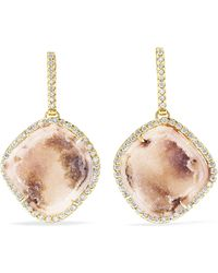 Kimberly Mcdonald - 18-karat Gold, Diamond And Geode Earrings - Lyst