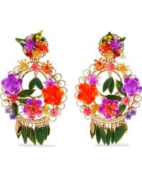 Mercedes Salazar - Fiesta Gold-plated Resin Clip Earrings - Lyst