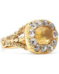 Fred Leighton - 1800s 15-karat Gold, Citrine And Diamond Ring - Lyst