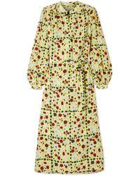 Equipment - Francois Floral-print Washed-silk Midi Dress - Lyst