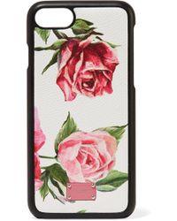 de Dolce Iphone estampado texturizado floral con para 7 y 8 cuero Estuche Gabbana Zx4YHH