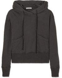 James Perse - Cotton-jersey Hooded Top - Lyst