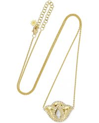 Amrapali - Thamarai Lotus 18-karat Gold, Topaz And Diamond Necklace - Lyst