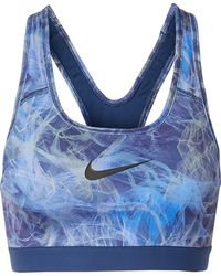 Nike - Classic Printed Dri-fit Stretch Sports Bra - Lyst