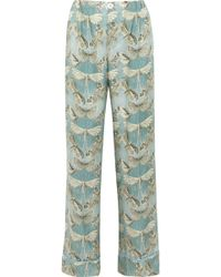 F.R.S For Restless Sleepers - Etere Printed Silk-twill Pajama Pants - Lyst