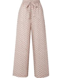 Zimmermann - Heathers Floral-print Linen High-rise Wide-leg Trousers - Lyst