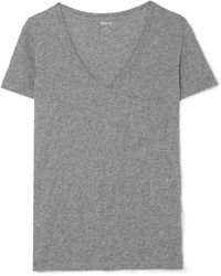 Madewell - Whisper Slub Cotton-jersey T-shirt - Lyst