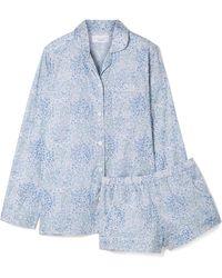 Three J Nyc - Josephine Printed Cotton-voile Pajama Set - Lyst