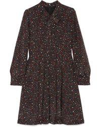 Madewell - Printed Silk Crepe De Chine Mini Dress - Lyst