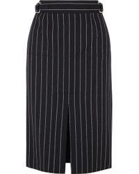 Tom Ford - Pinstriped Wool Midi Skirt - Lyst