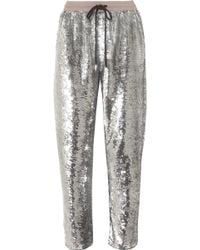 Ashish | Sequined Cotton Track Trousers | Lyst