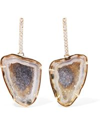 Kimberly Mcdonald - 18-karat Rose Gold, Geode And Diamond Earrings - Lyst