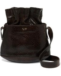 Tl-180 - Marcello Croc-effect Leather Bucket Bag - Lyst