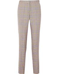 Gabriela Hearst - Lisa Plaid Wool-blend Skinny Trousers - Lyst