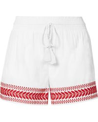 J.Crew - Embroidered Cotton-voile Shorts - Lyst