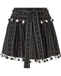 Dodo Bar Or - Tasseled Cotton-jacquard Mini Skirt - Lyst