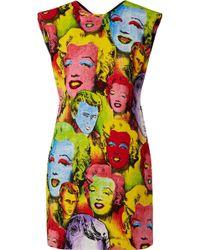Versace - Printed Cady Mini Dress - Lyst