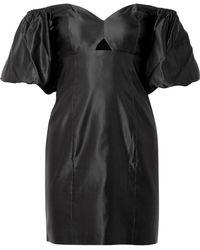 Caroline Constas - Titos Off-the-shoulder Cotton And Silk-blend Satin Mini Dress - Lyst