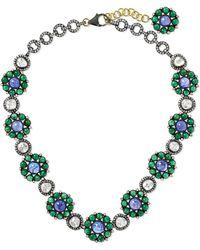Amrapali - 18-karat Gold, Tanzanite, Emerald And Diamond Necklace - Lyst