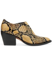 Chloé - Rylee Snake-effect Leather Ankle Boots - Lyst