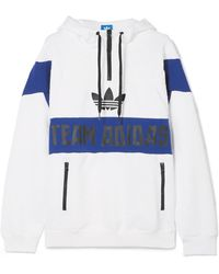 adidas Originals - Embossed Jersey Hooded Top - Lyst