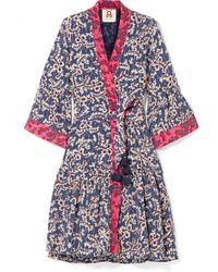 Figue - Caroline Printed Silk Crepe De Chine Wrap Dress - Lyst
