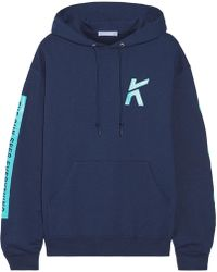 Koza - Wave Printed Cotton-blend Jersey Hooded Top - Lyst
