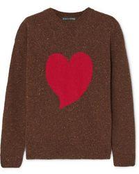 ALEXACHUNG - Heart Intarsia Wool-blend Sweater - Lyst