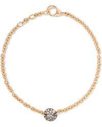 Pomellato - Sabbia 18-karat Rose Gold Diamond Bracelet - Lyst