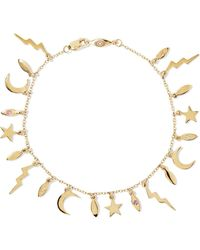 Andrea Fohrman - 14-karat Gold Sapphire Bracelet - Lyst