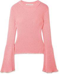 ac287054e9479c Philosophy Di Lorenzo Serafini - Bead-embellished Ribbed-knit Sweater - Lyst