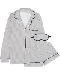 Eberjey - Sleep Chic Striped Jersey Pajama Set - Lyst