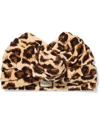 Gucci - Leopard-print Velvet Turban - Lyst