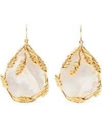 Aurelie Bidermann | Francoise Gold-plated Pearl Earrings | Lyst